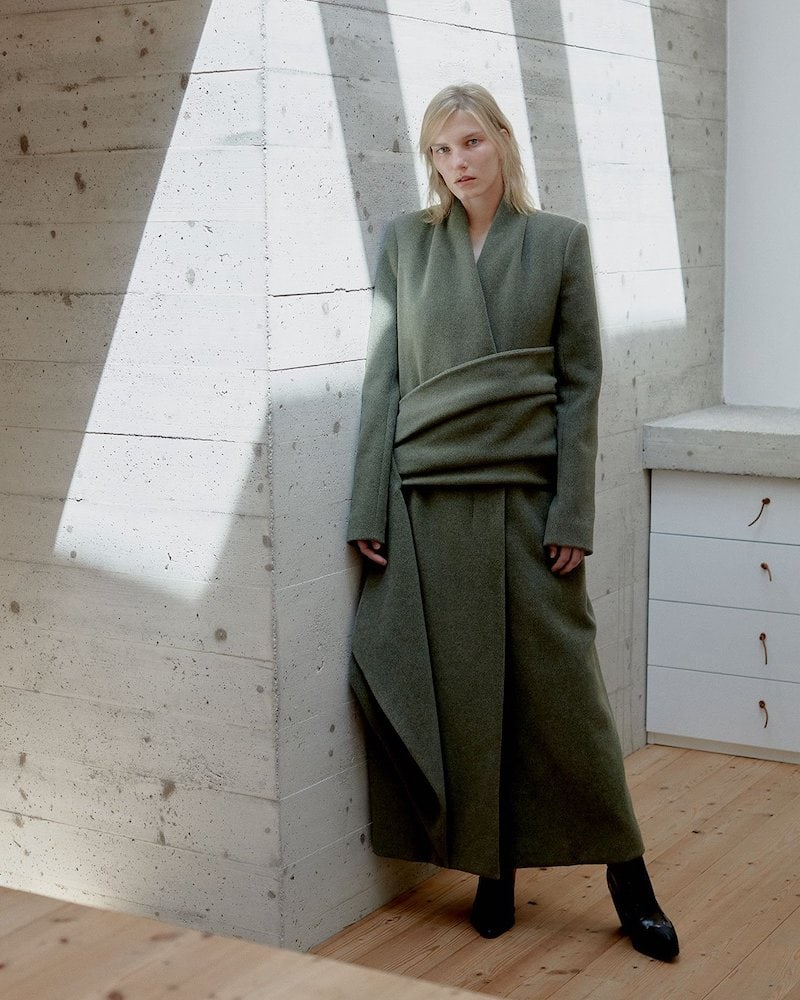 The Row Nalty Double-Breasted Wool-Blend Coat