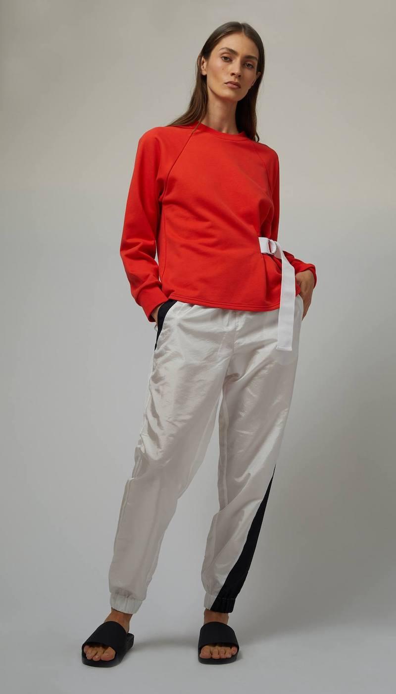 Tibi Belted Sweatshirt