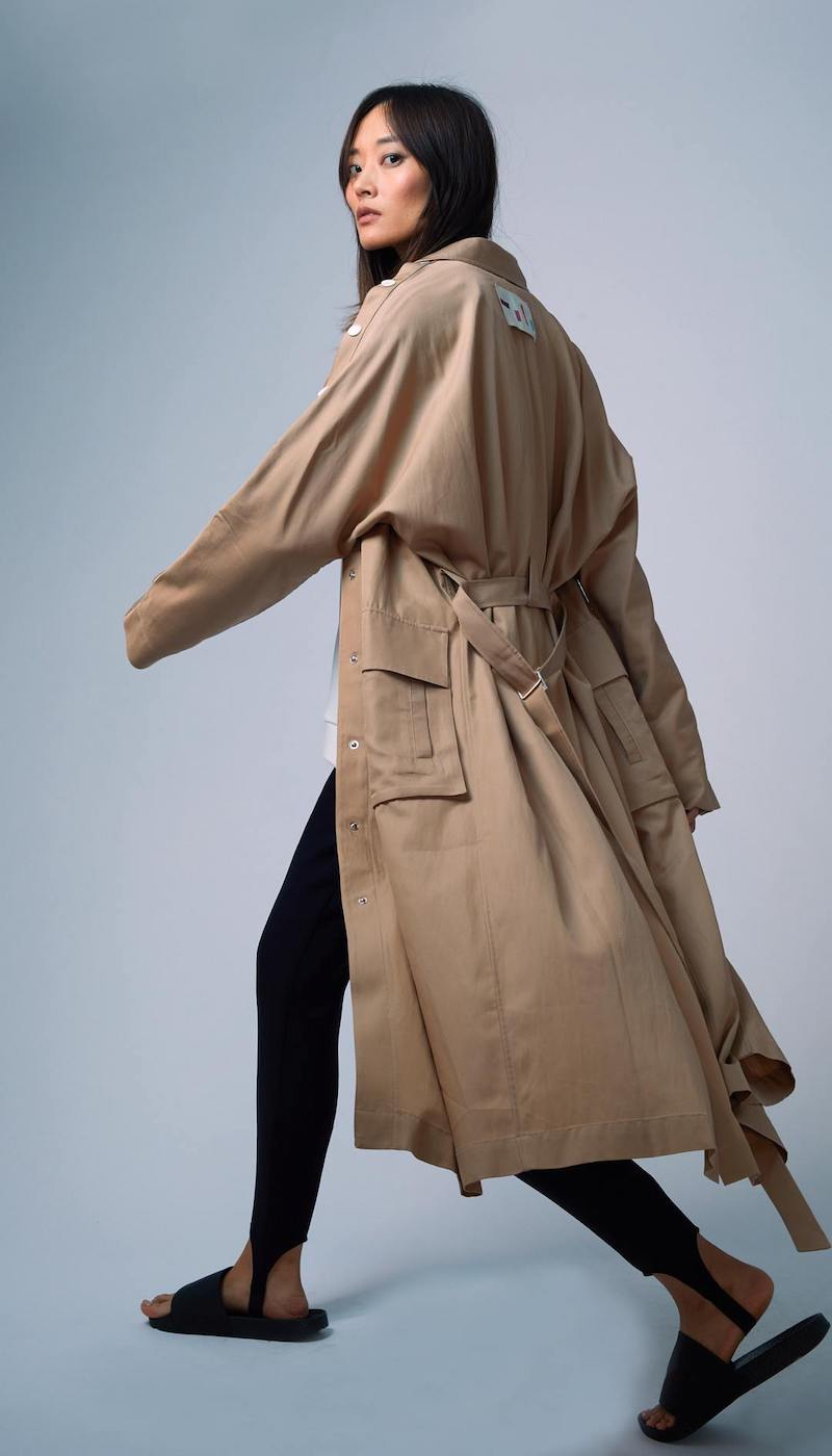 Tibi Snap Detail Trench Coat