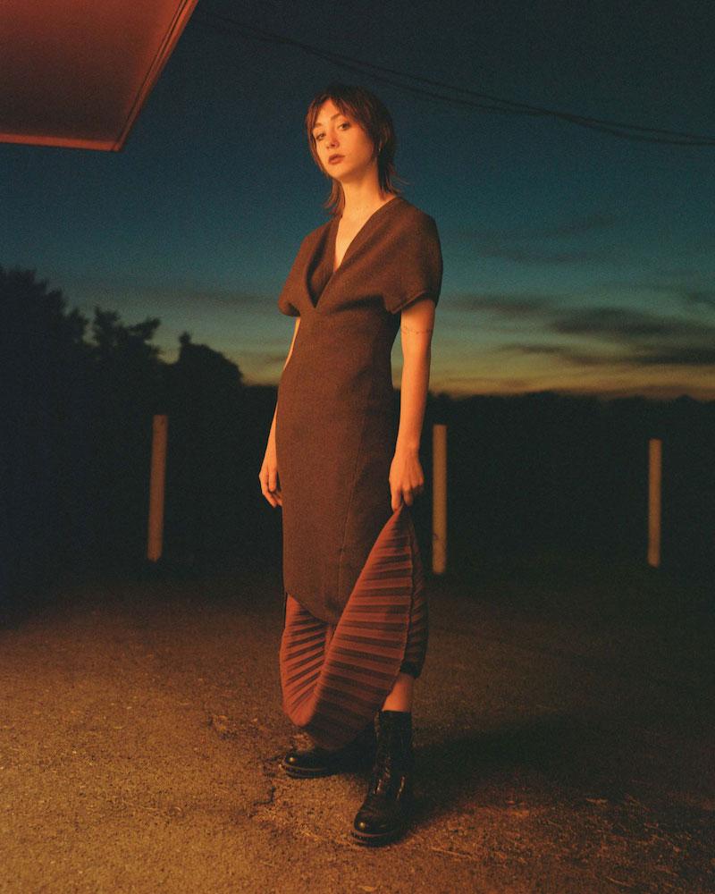 Victoria Beckham Multi-Knit Wool Asymmetric Dress