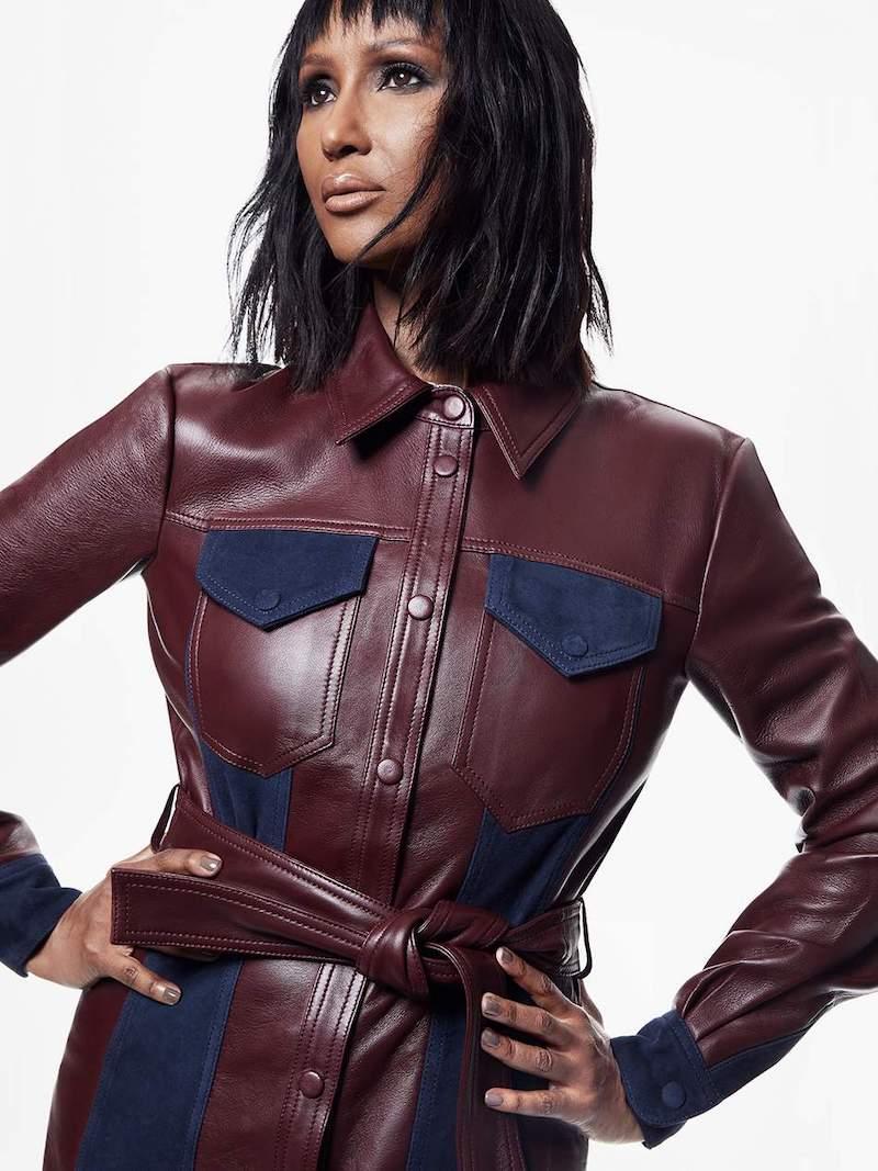 Victoria, Victoria Beckham Suede-Paneled Leather Jacket