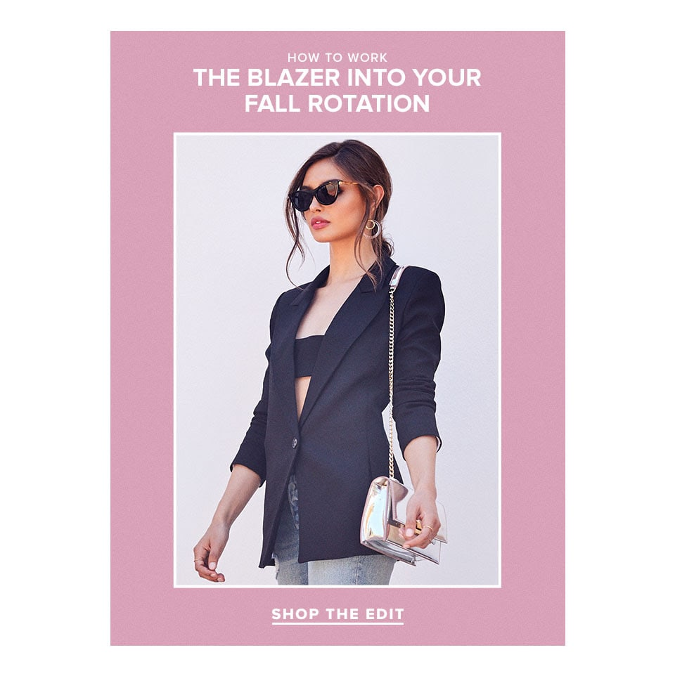 How to Work the Blazer Into Your Fall Rotation. Shop the edit.