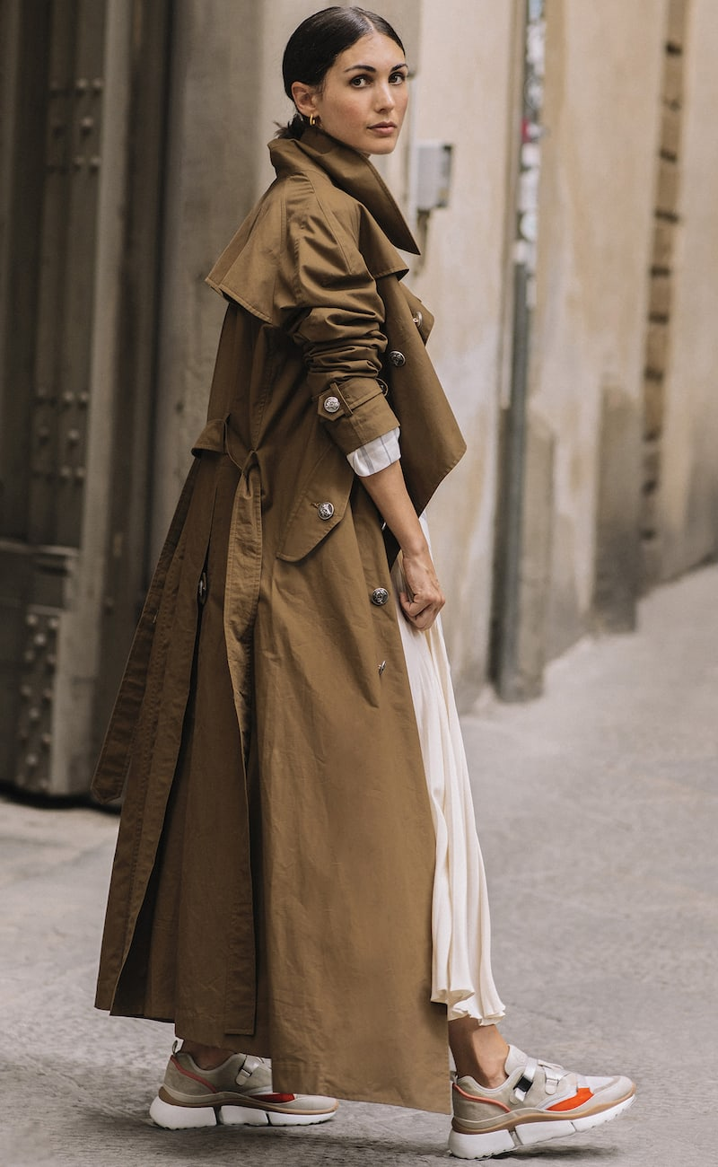 A.W.A.K.E. Belted Cotton-gabardine Trench Coat