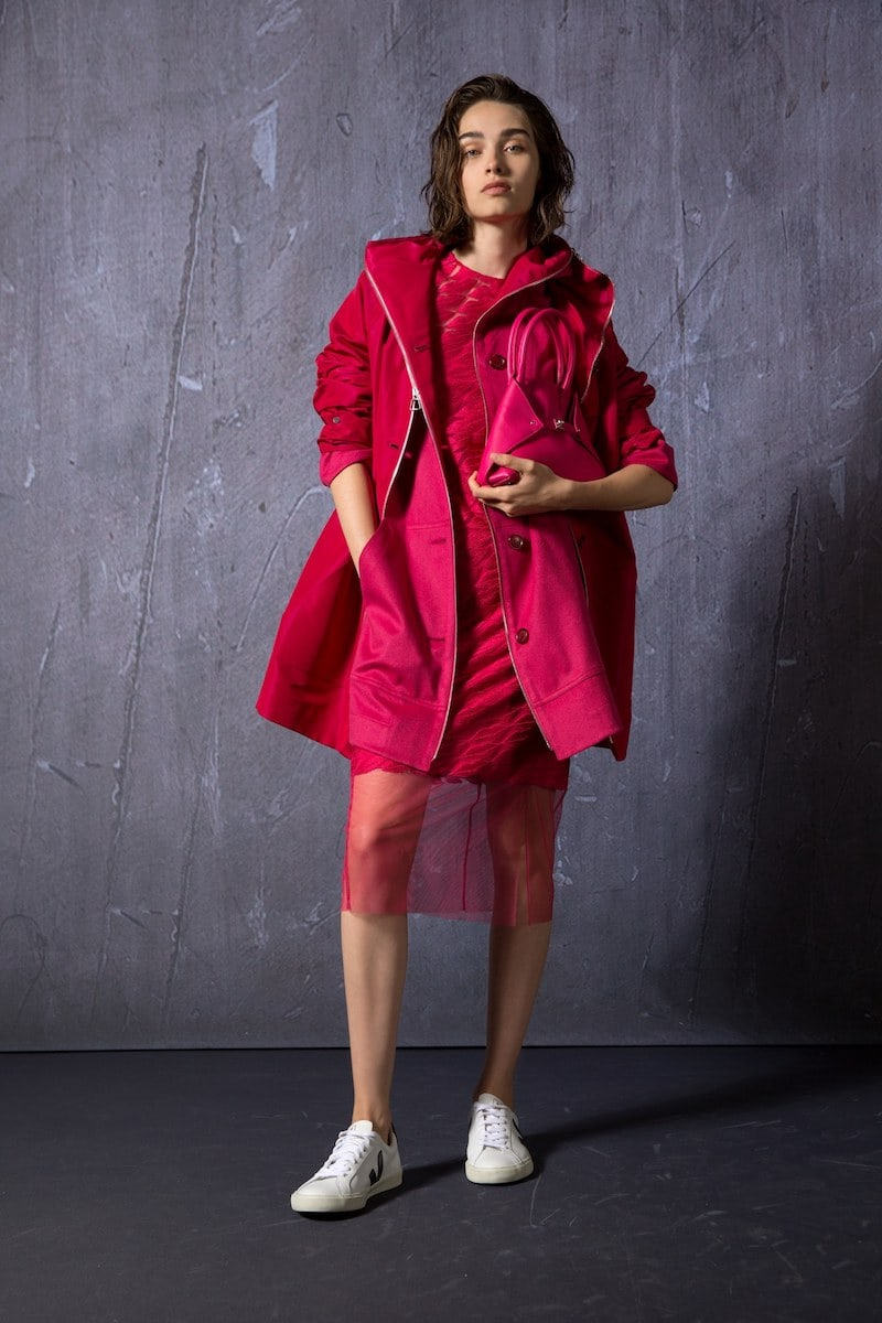 Akris Bellevue 2-in-1 Short Coat with Cashmere Bib