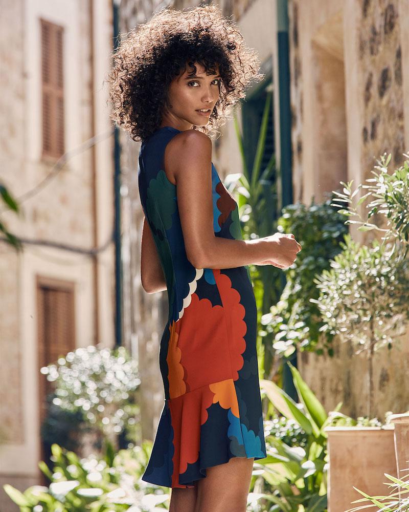 Akris Punto Nuvola-Print Jersey Shift Dress