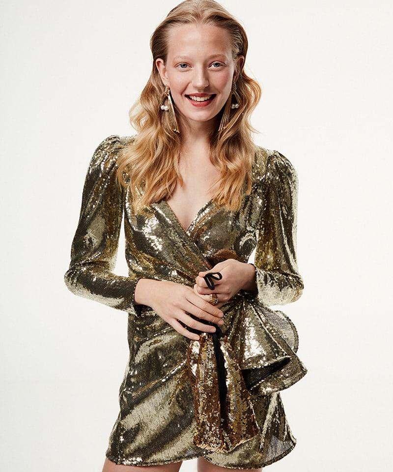 Attico Consuelo Sequined Mini Dress