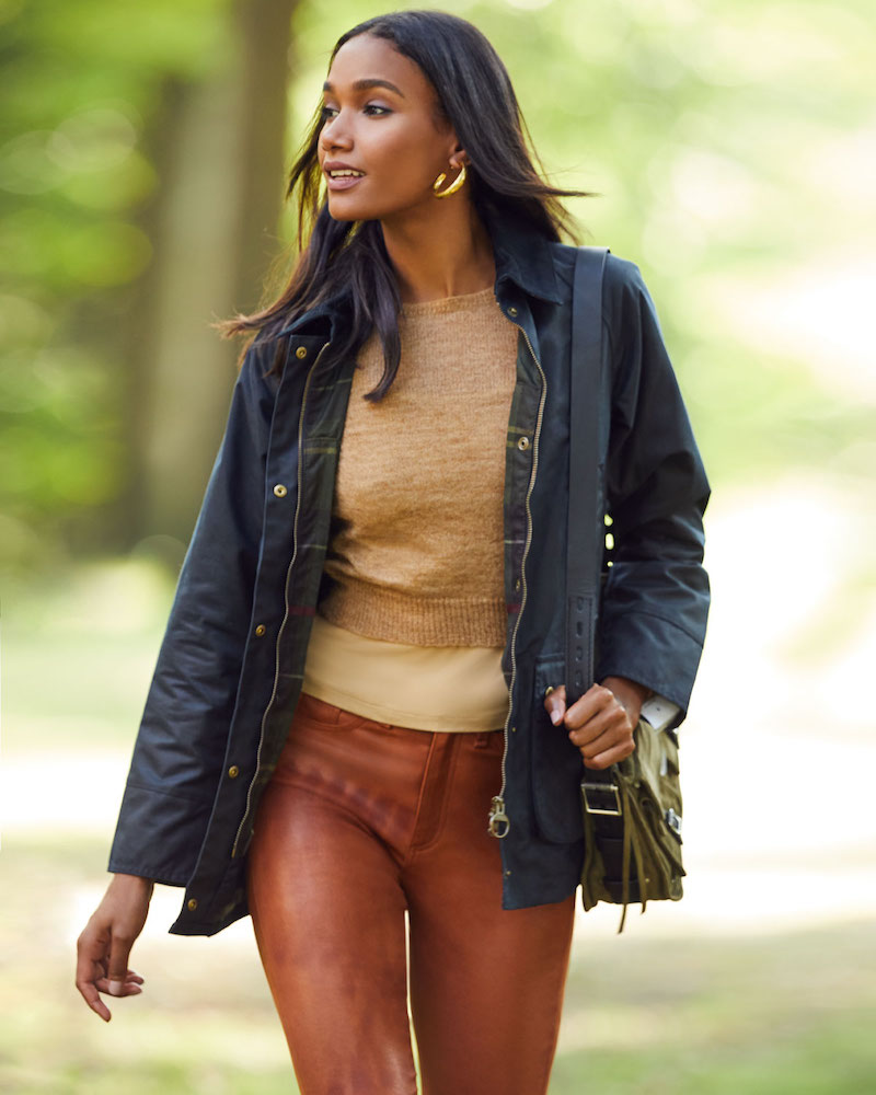 Barbour Acorn Waxed Jacket with Collar