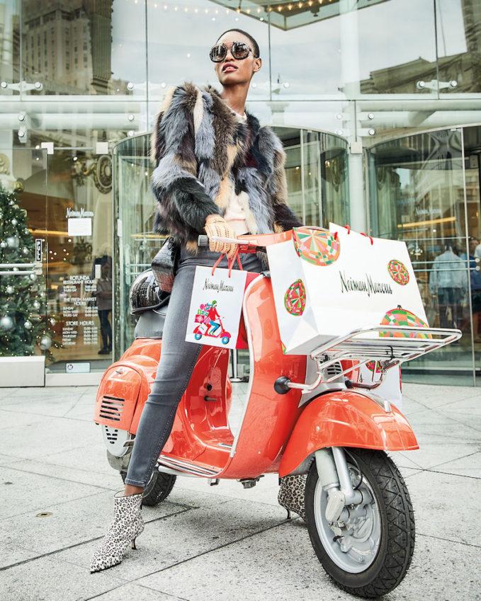 Belle Fare Multicolor Fox Fur Jacket