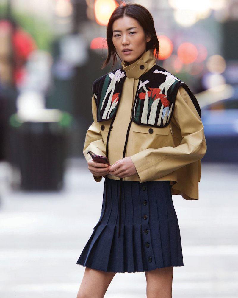Carven Embroidered Shoulder Patches Jacket