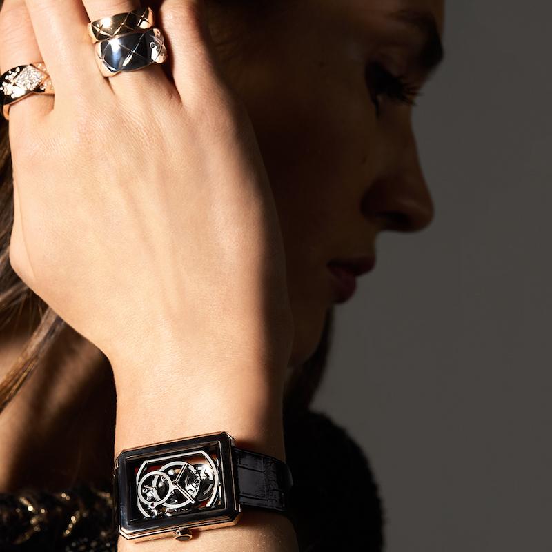 Chanel Boy·Friend Skeleton Watch