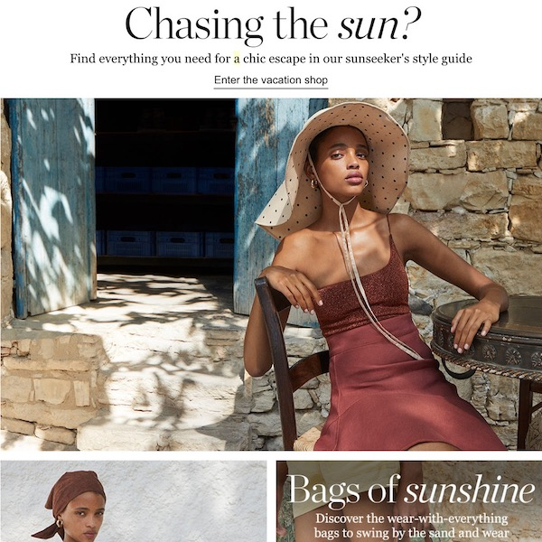 Chasing the Sun: NET-A-PORTER The Vacation Shop 2018