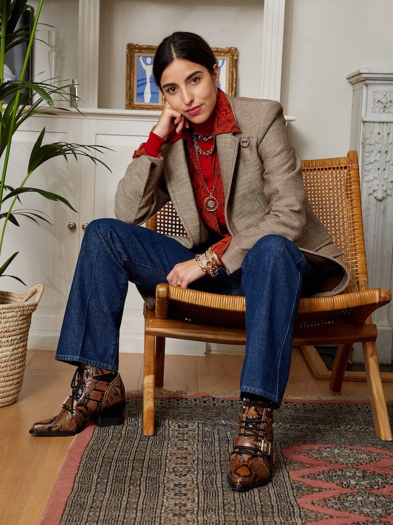 Chloé Buckled Tweed Blazer
