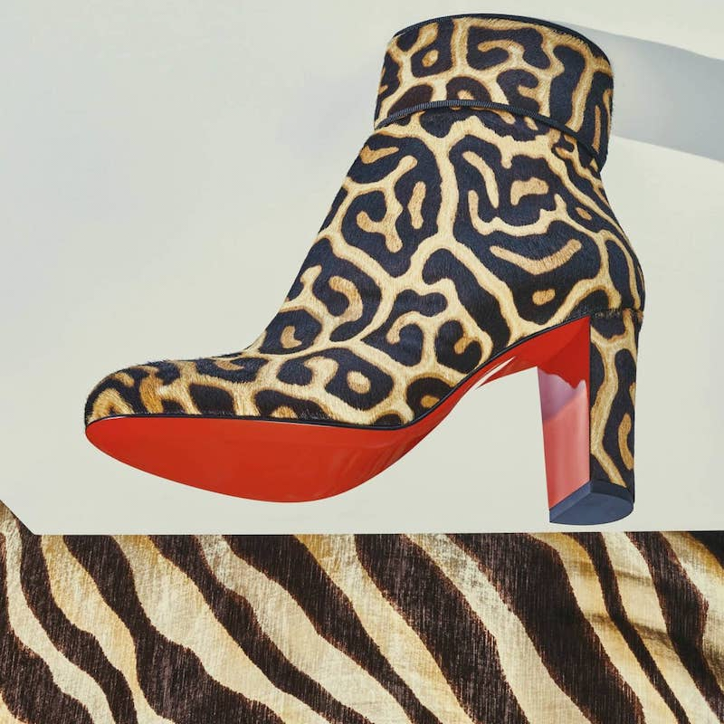 Christian Louboutin Moulamax Calf Hair Ankle Boots