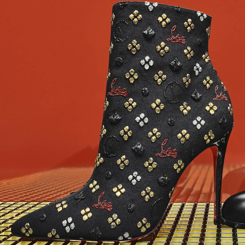Christian Louboutin So Kate Jacquard Ankle Boots