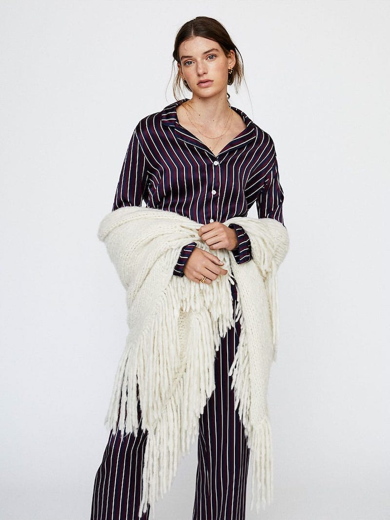 Derek Rose Brindisi Striped Silk Pajama Set