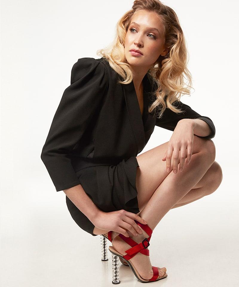 Diego Dolcini 105MM Juliette Baccarat Silk Sandals