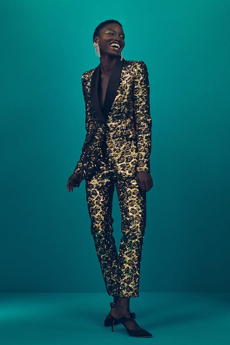 Dolce & Gabbana Single-Breasted Leopard-Print Sequinned Blazer