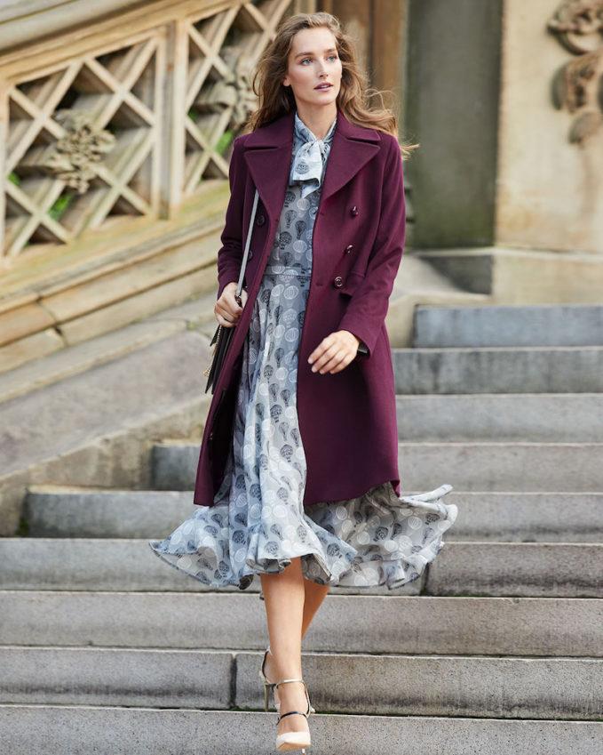 Fleurette Double-Breasted Wool Walker Coat