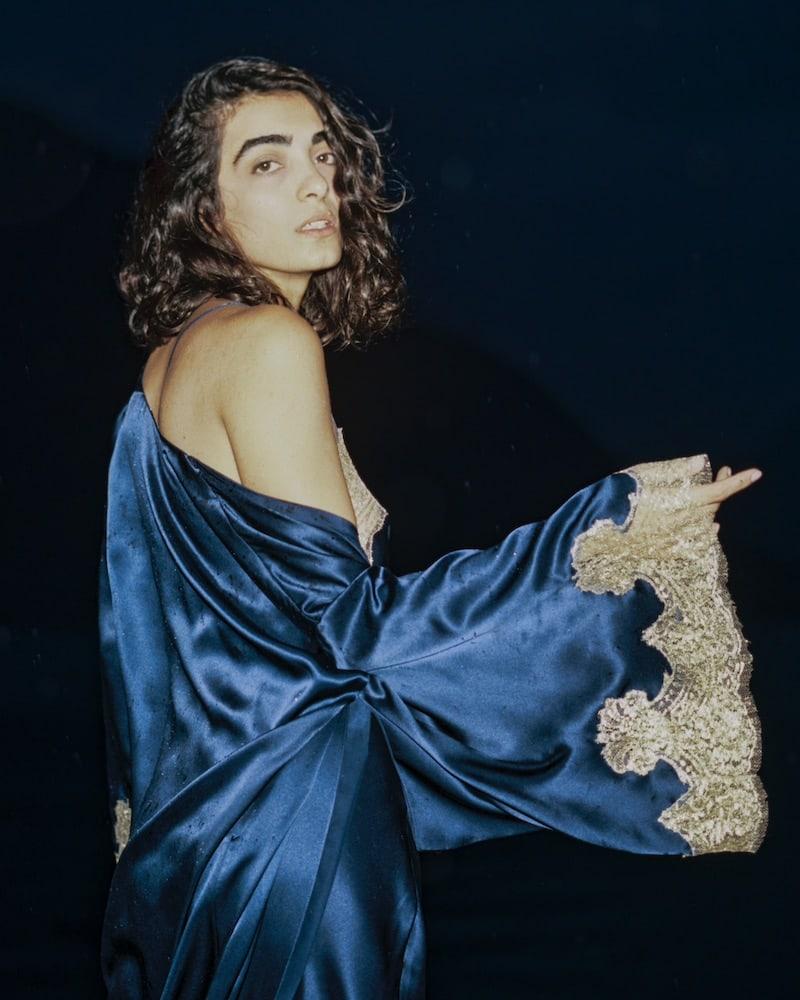 GILDA & PEARL Gina Lace-Trimmed Silk Kimono