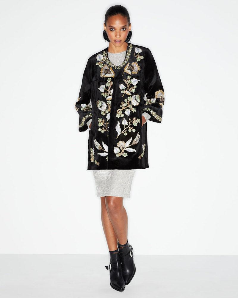 Gorski Beaded Sheared Mink-Fur Stroller Coat