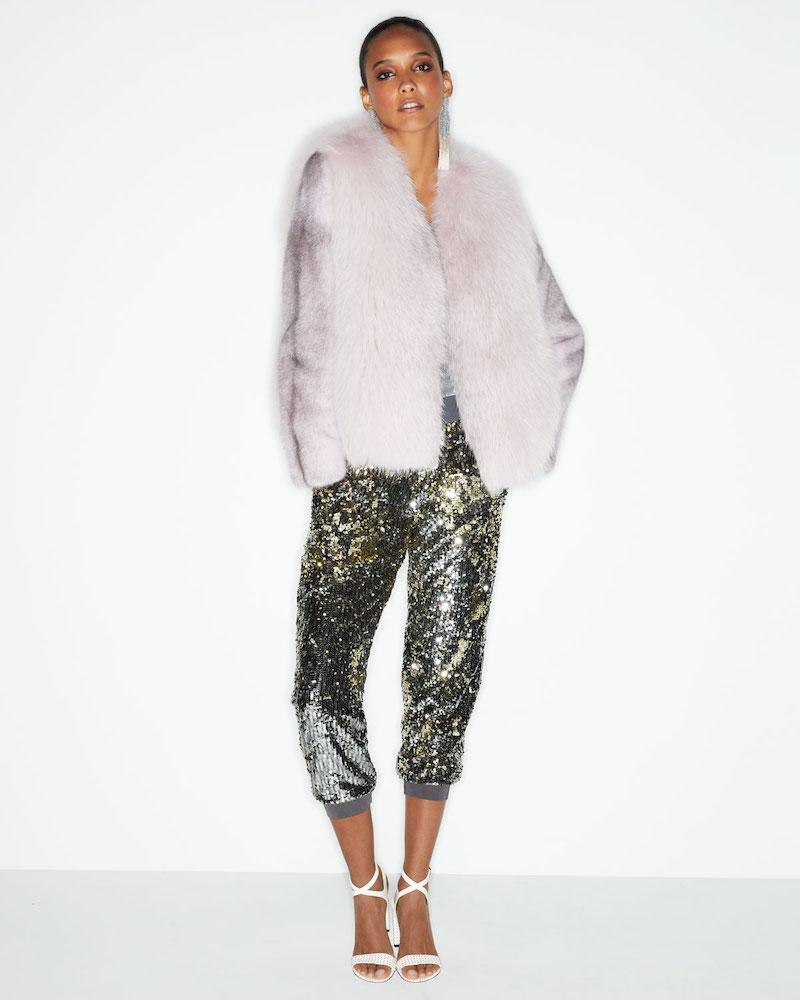 Gorski Fox-Fur Jacket with Mink-Fur Sleeves