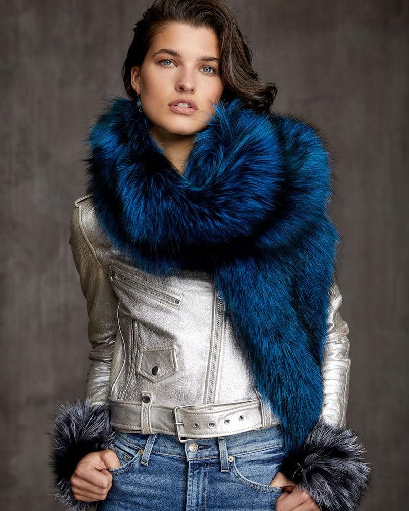 Gorski Silver Fox Fur Boa