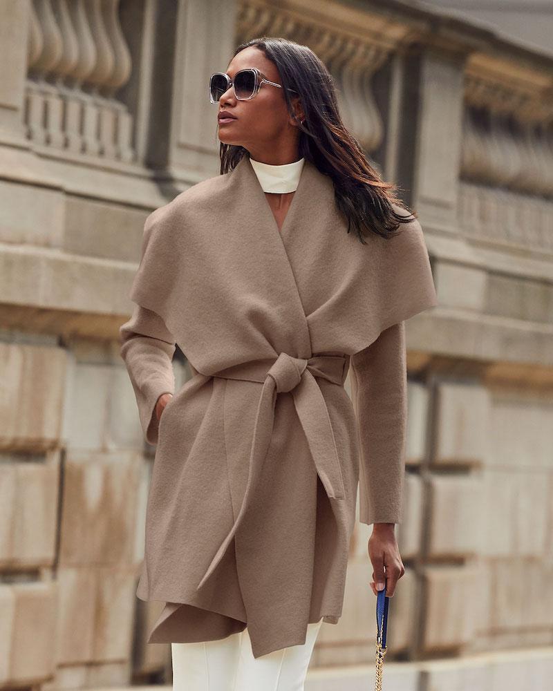 Harris Wharf London Pressed Wool Blanket Coat