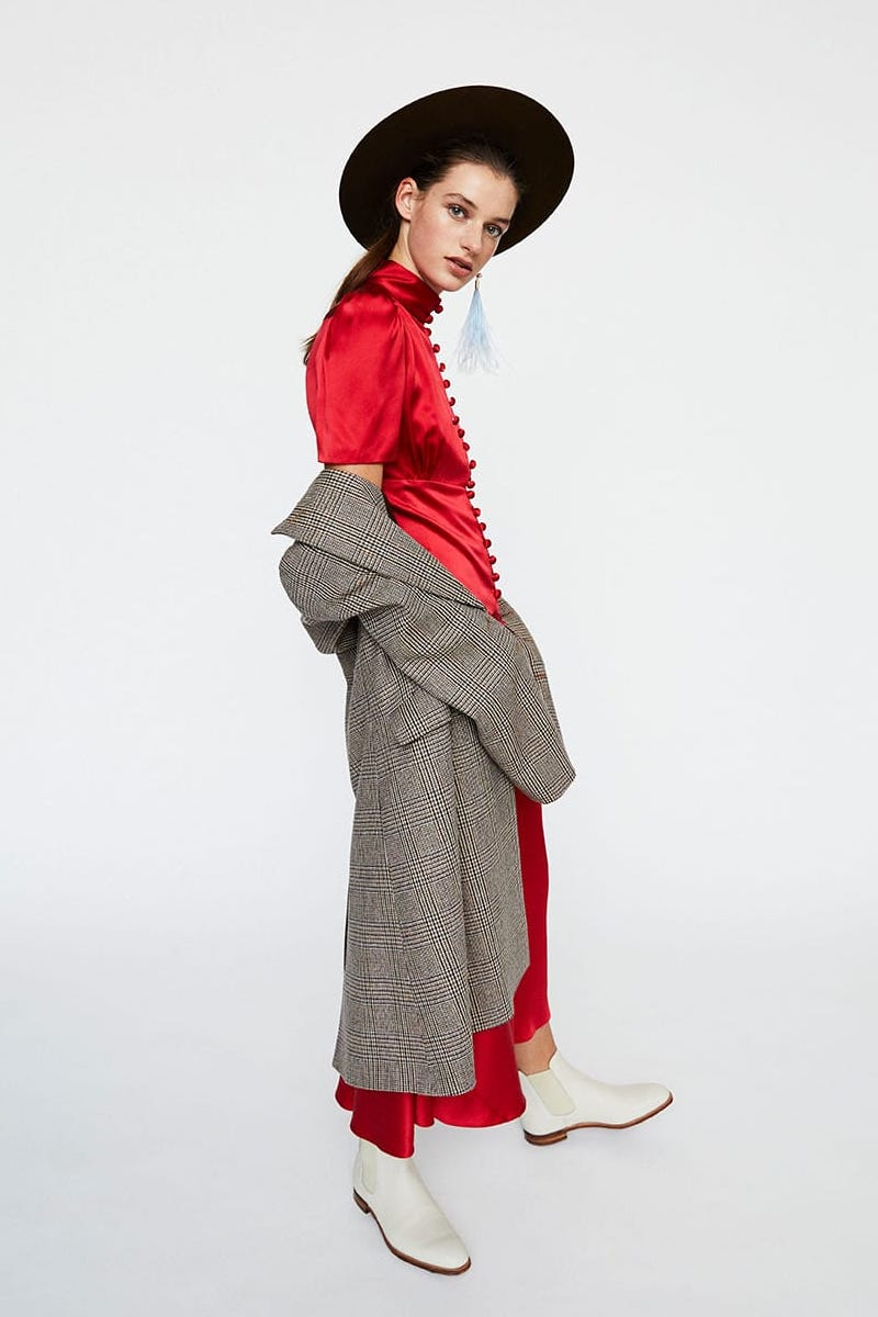Hillier Bartley Plimpton Silk-Satin Dress