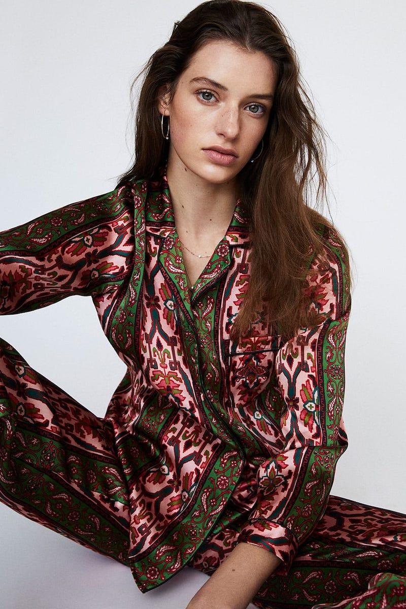 House of Hackney Mamounia Silk-Satin Pajama Set