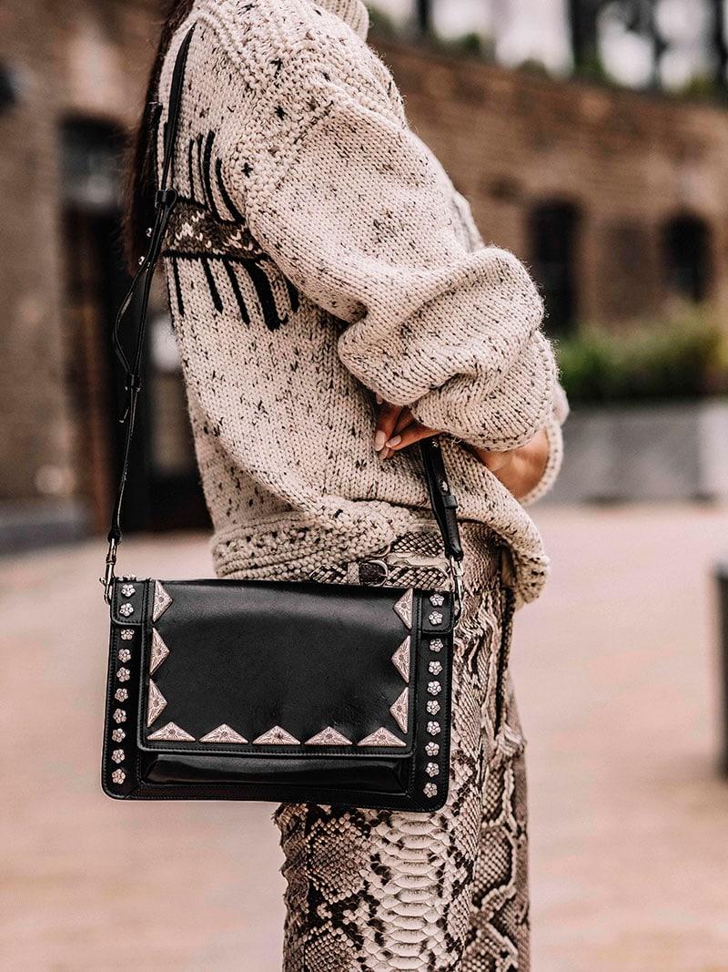Isabel Marant Miskai Embellished Leather Cross-Body Bag