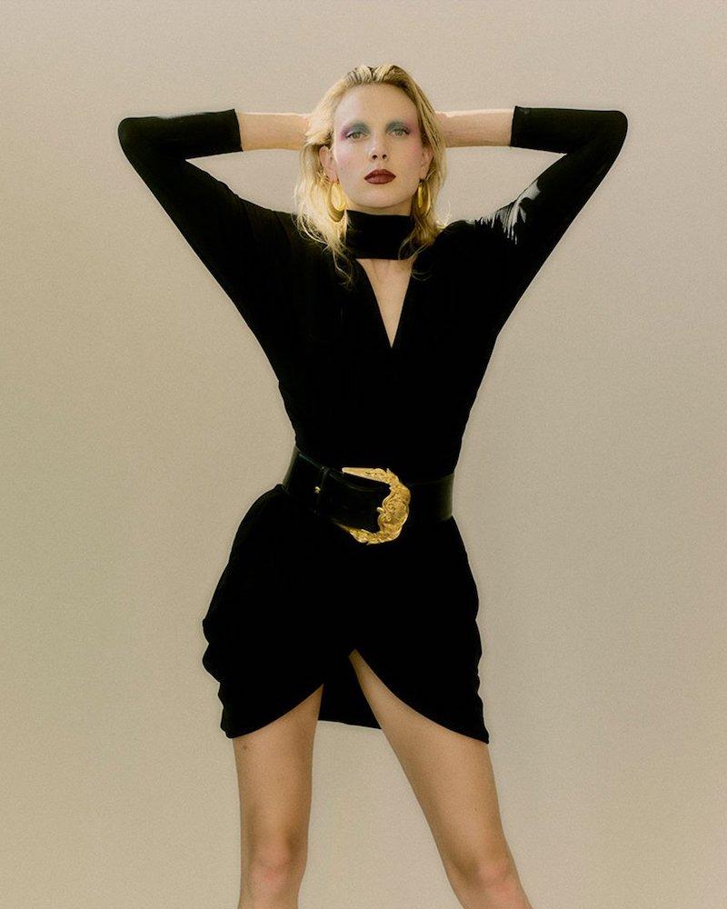 Joelle Kharrat Wrap-Front Stretch-Crepe Mini Dress