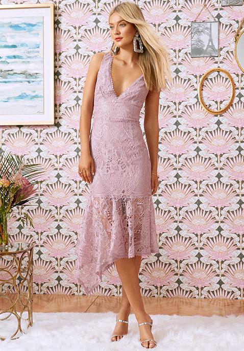 Karina Grimaldi Julia Lace Dress