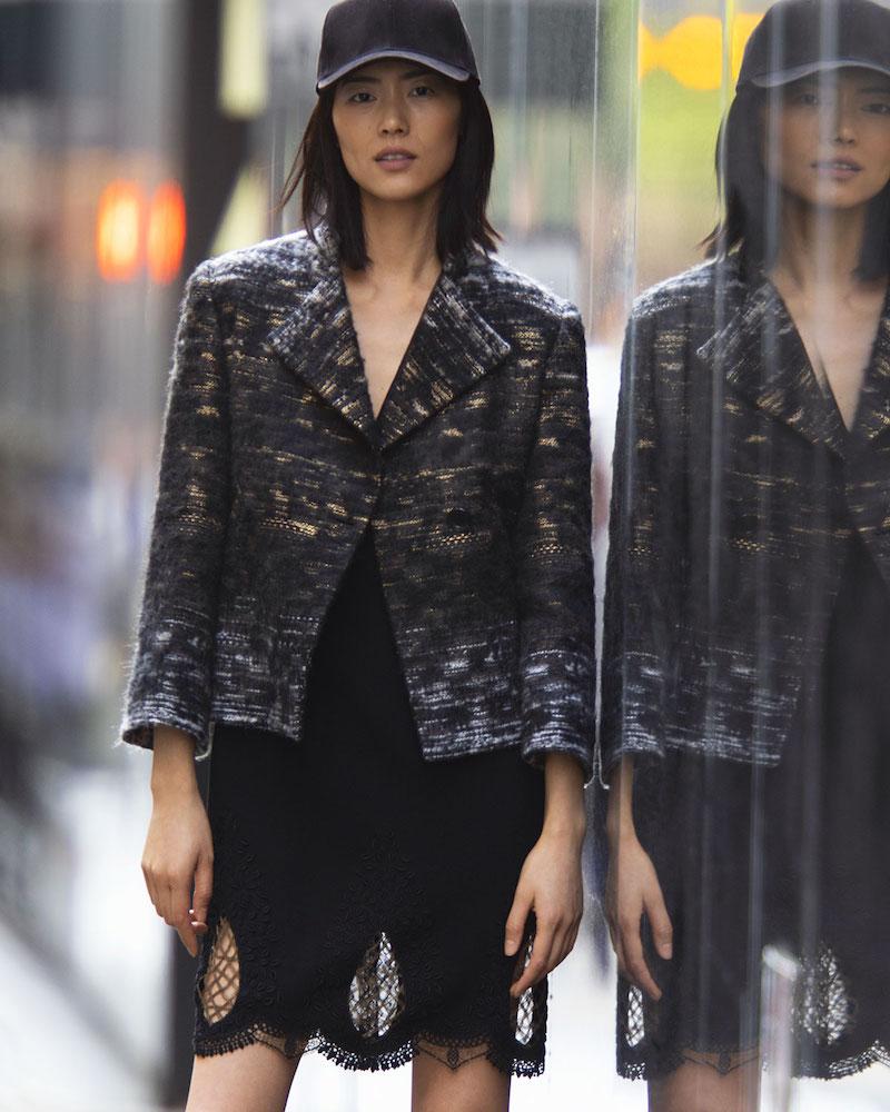 Kiton One-Button Tweed Evening Jacket