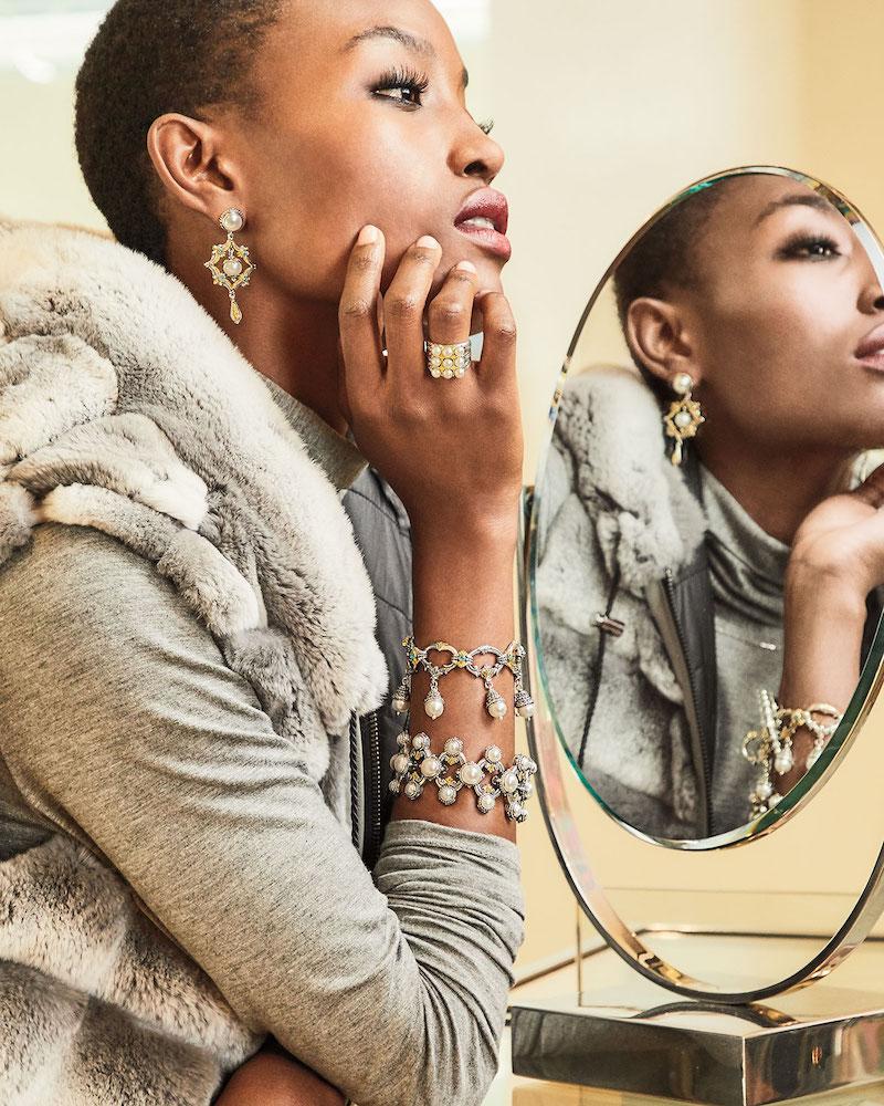 Konstantino Thalia Multi-Pearl Charm Bracelet