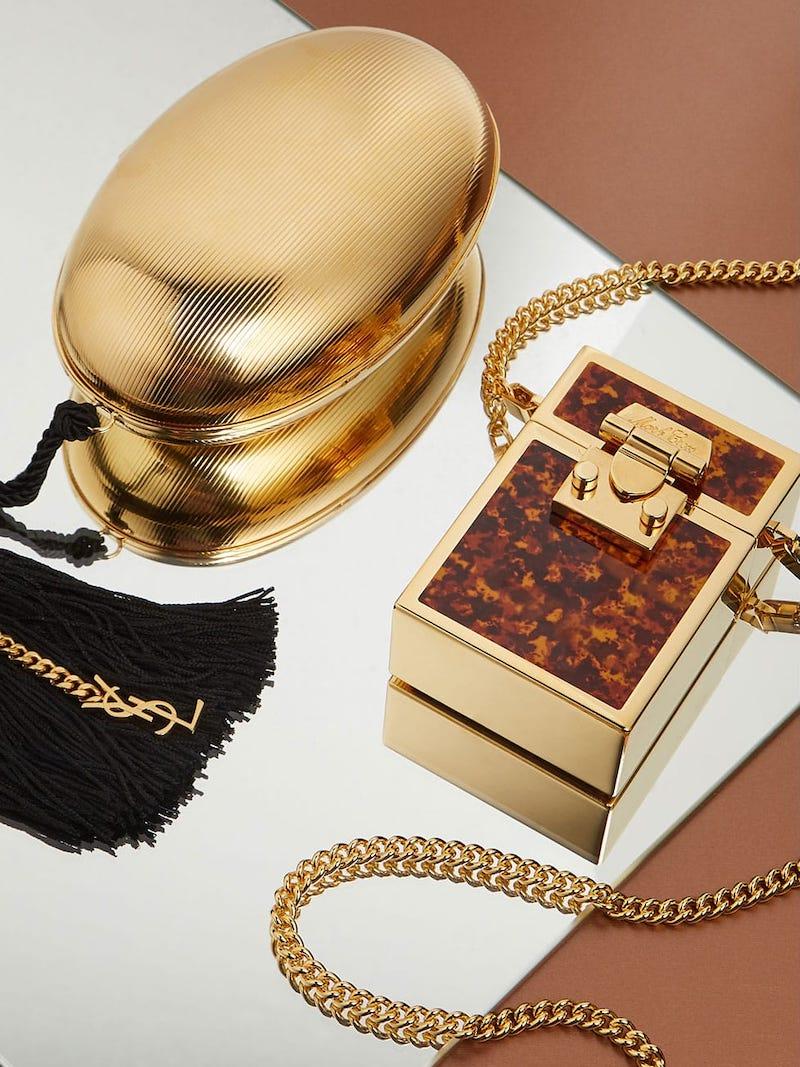 Mark Cross Nicole Tortoiseshell-Enamelled Gold-Plated Bag