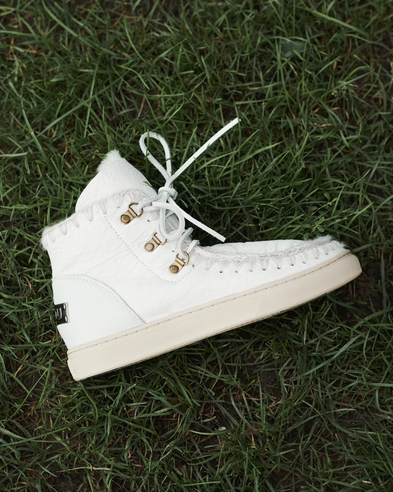 Mou Shearling Lace-Up Sneakerboots