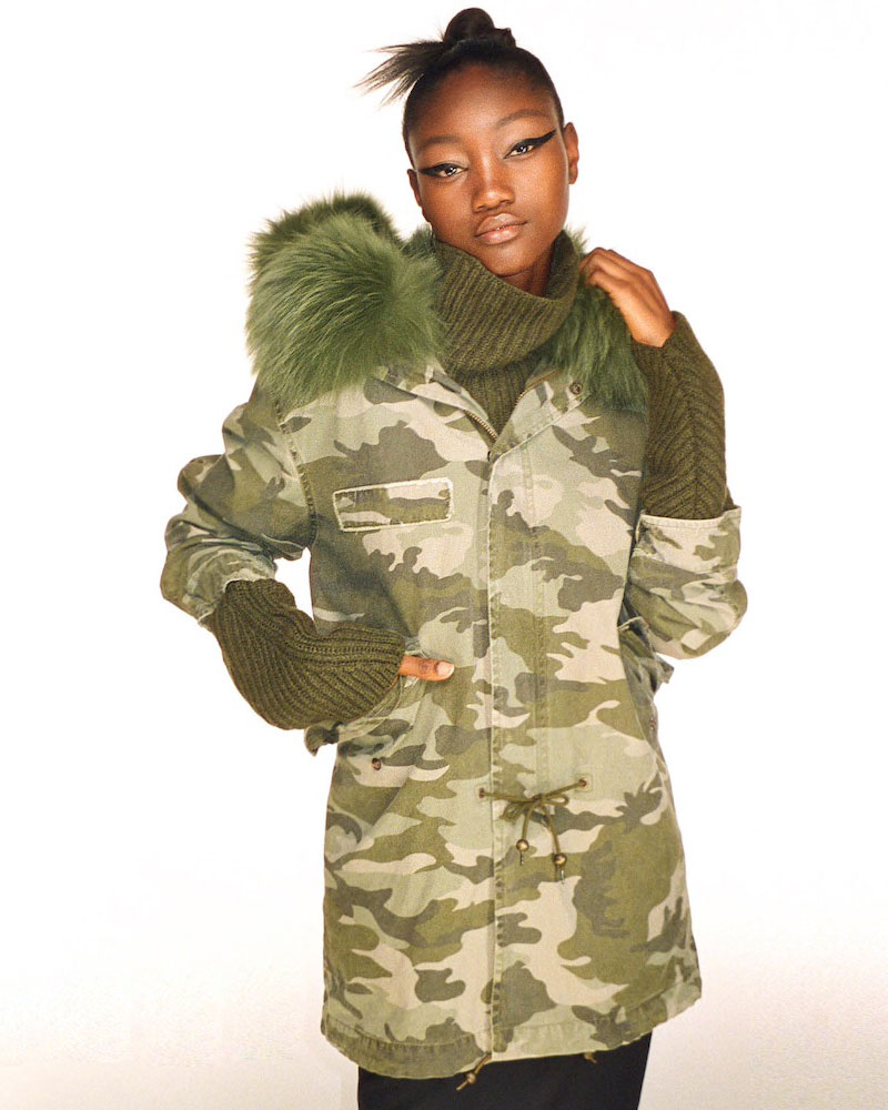 Mr & Mrs Italy Fur-Trimmed Canvas Midi-Parka