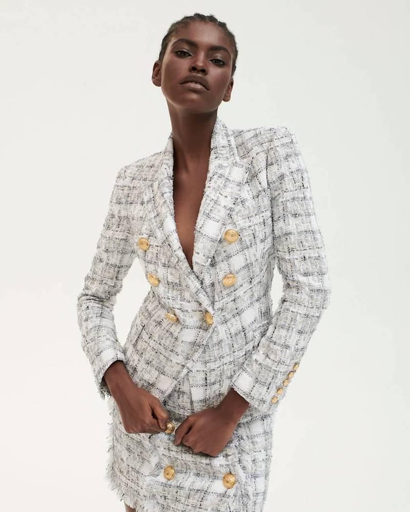 Mytheresa x Balmain Double-Breasted Tweed Blazer