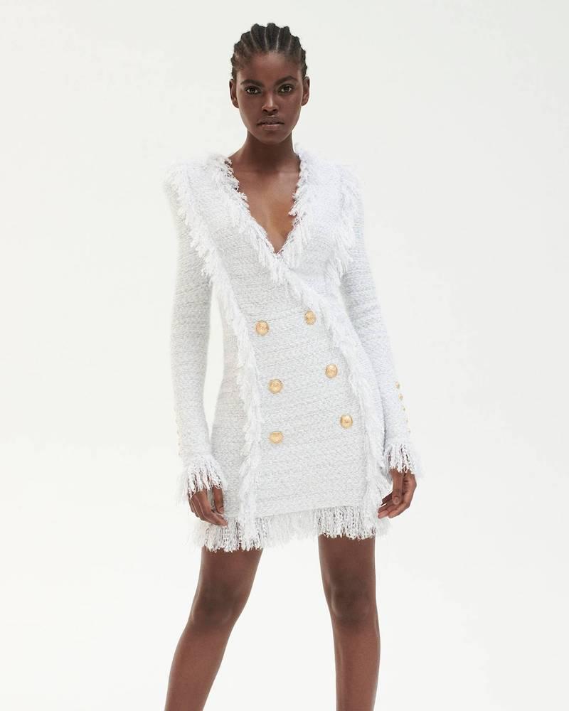 Mytheresa x Balmain Double-Breasted bouclé Dress
