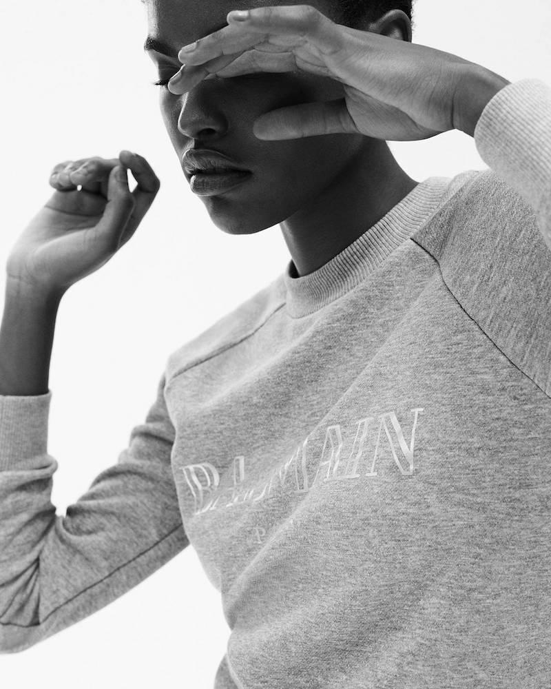 Mytheresa x Balmain Printed Cotton Sweatshirt
