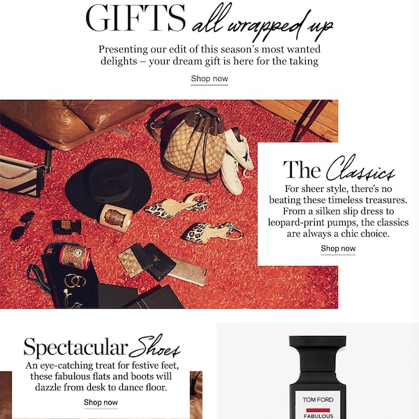 NET-A-PORTER Chic Holiday Gift Guide 2018