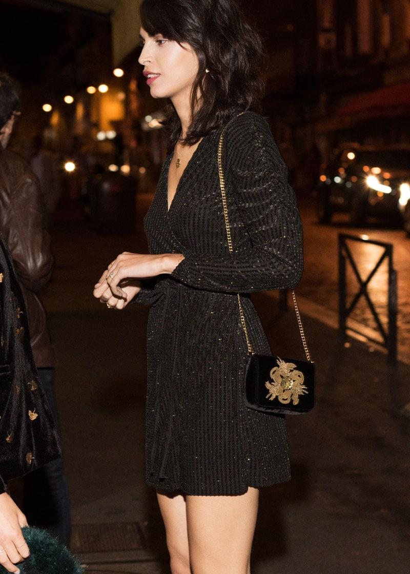 & Other Stories Beaded Velvet Crossbody Bag
