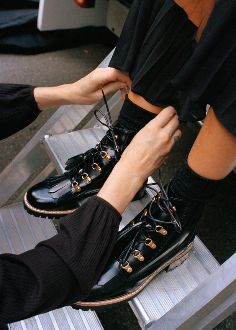 & Other Stories Tassel Lace Up Boots