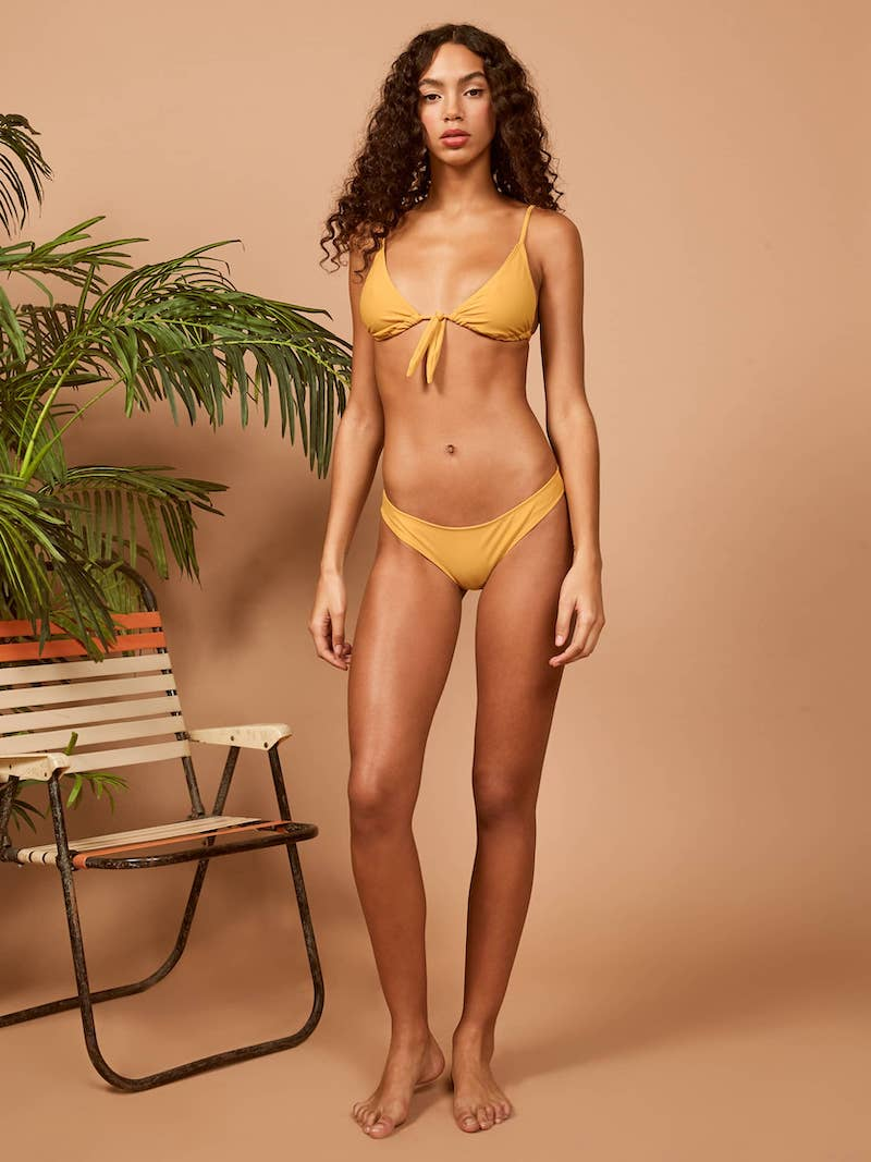 Ref Swim Cayo Bikini Bottom in Ochre
