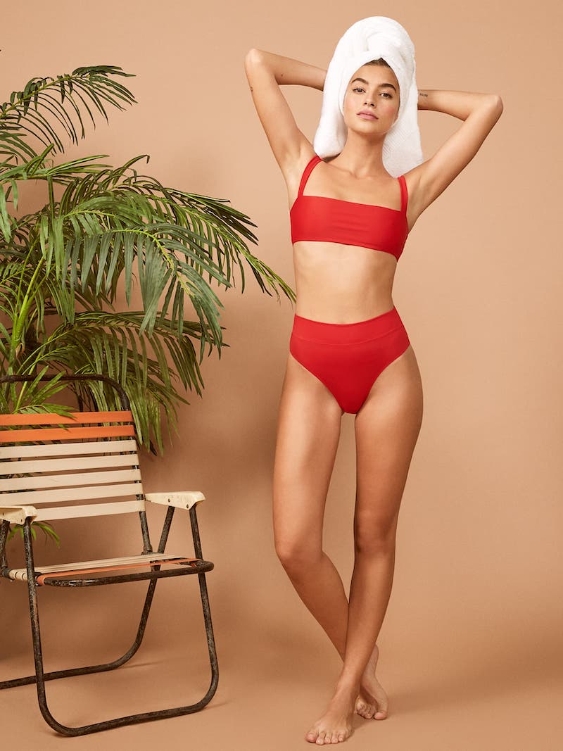 Ref Swim Kona Bikini Bottom in Cherry