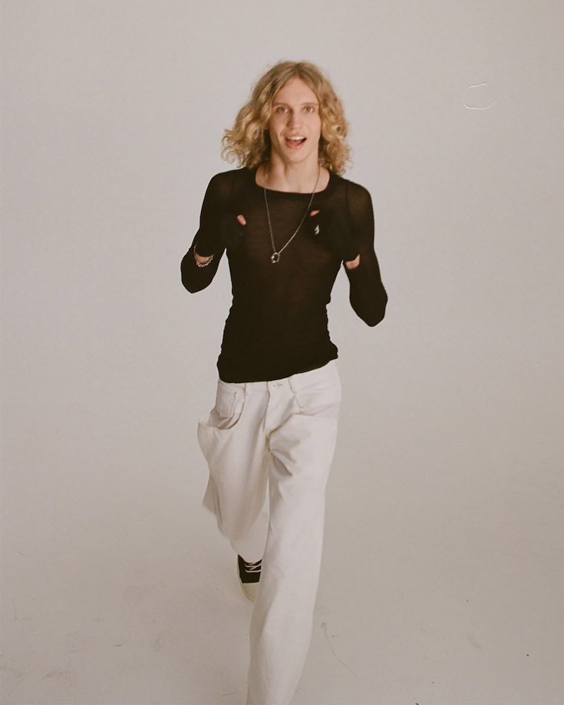 Rick Owens Black Long Sleeve Basic Silk Rib T-Shirt
