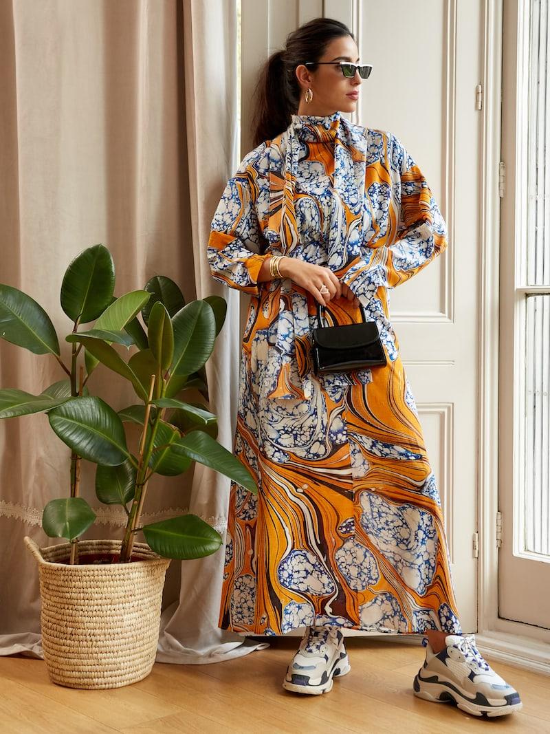 Rosie Assoulin Printed Silk-blend Crepe De Chine Maxi Dress