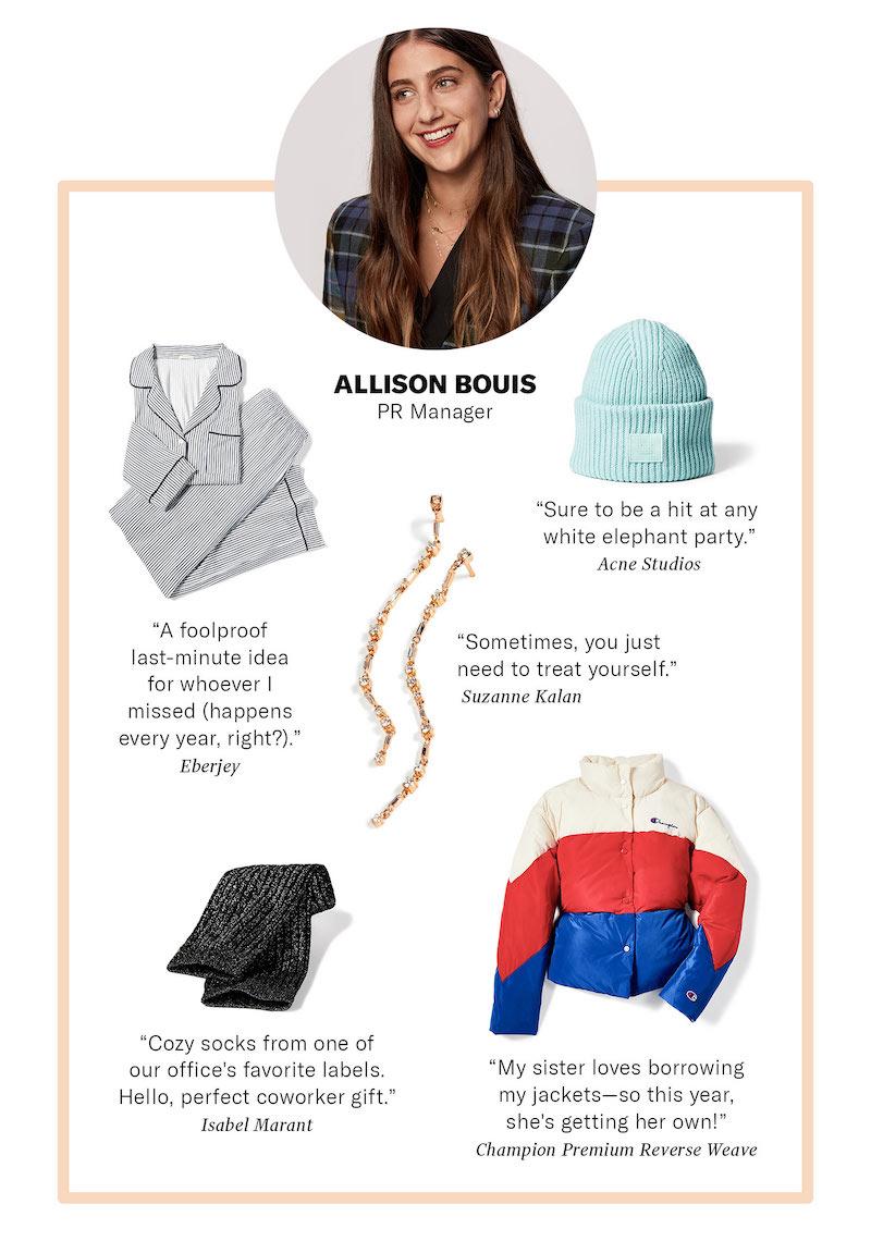 SHOPBOP PR Manager Allison Bouis Gift Ideas