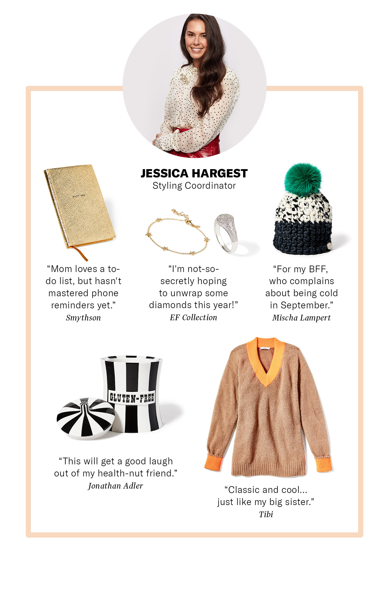 SHOPBOP Styling Coordinator Jessica Hargest Gift Ideas