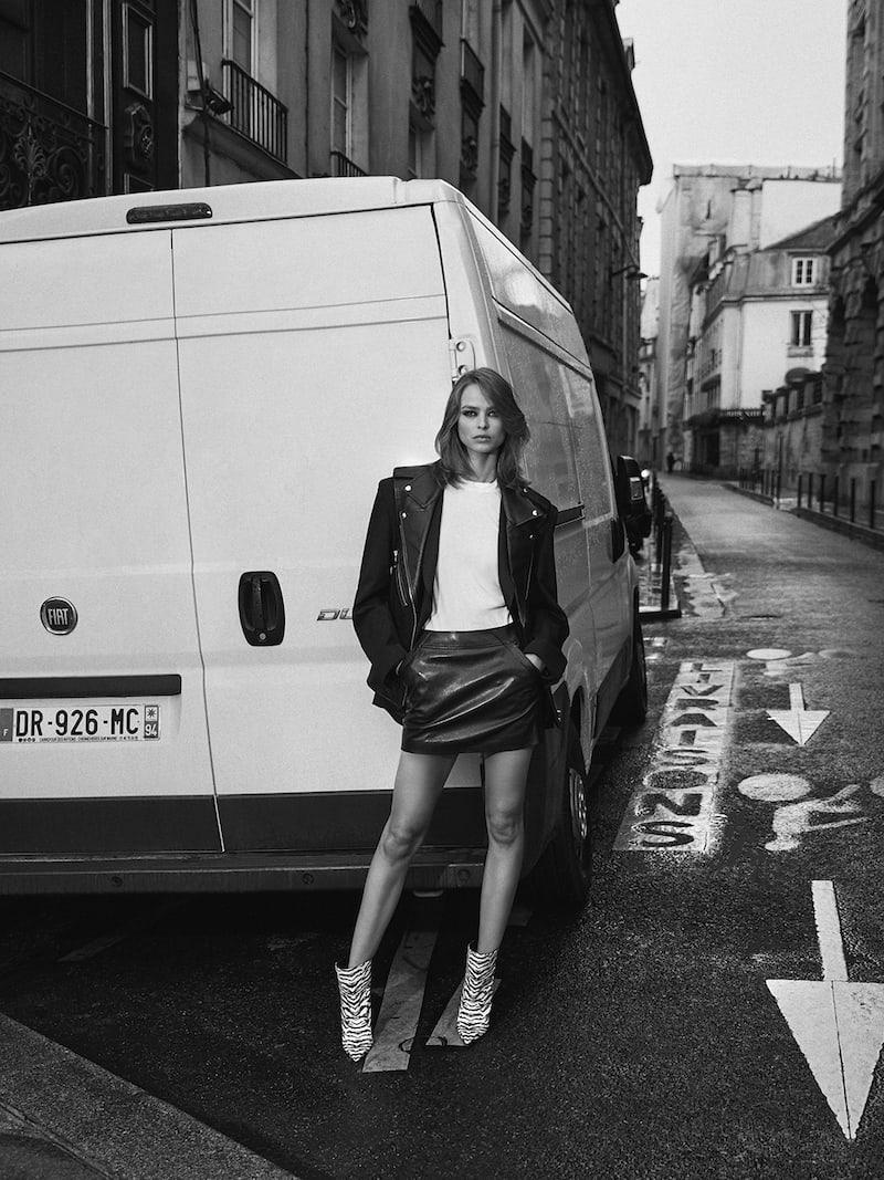 Saint Laurent Leather Mini Skirt